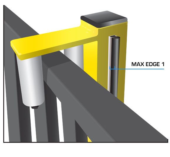 Maximum Controls Max Edge 1 safety edge illustration